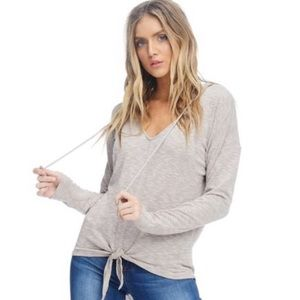 Anama Hooded Knot Sweater